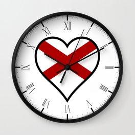 Love Alabama Wall Clock