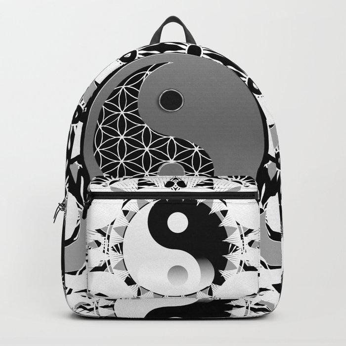 YinYang Sacred Geometry Totem Backpack