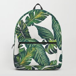 Jungle Leaves, Banana, Monstera II #society6 Backpack