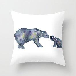 Star Bears Throw Pillow