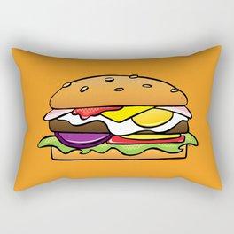 Aussie Burger on Orange Rectangular Pillow