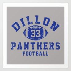 dillon panthers football #33 Art Print