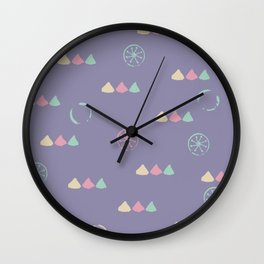 Funny Pastel Triangles Wall Clock