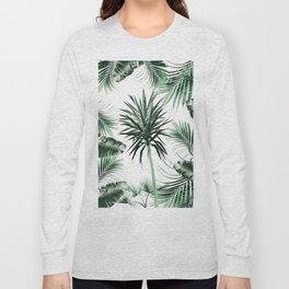 Tropical Summer Vibes Leaves Mix #2 #tropical #decor #art #society6 Long Sleeve T-shirt