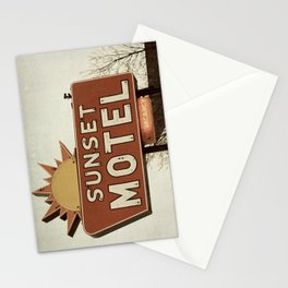 Sunset Motel Stationery Cards