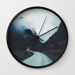 Dark road Wall Clock
