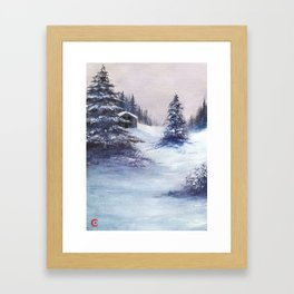 Serene Snow Framed Art Print