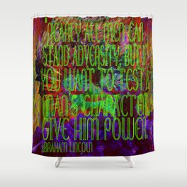 Chaos and Power Shower Curtain