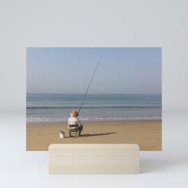 i'm going fishing Mini Art Print