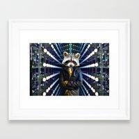 rocket raccoon Framed Art Prints featuring ROCKET RACCOON by Walko