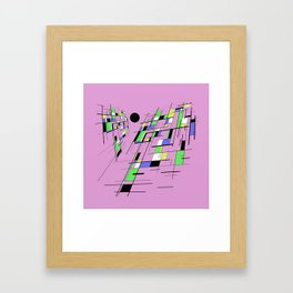 Bad perspective - Abstract, vector, geometric, 3D style artwork Framed Art Print