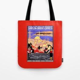 Vintage Simplon Orient Express London Constantinople Tote Bag