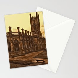 WW2 Bombed out Church Liverpool (Digital Art) Stationery Cards