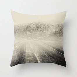 The Road and the Mountains II Throw Pillow