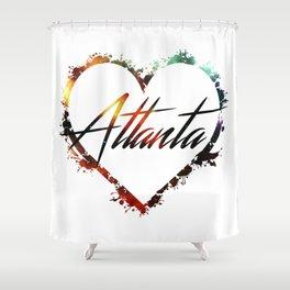 I Love Atlanta Shower Curtain