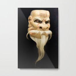 Noh Mask Metal Print