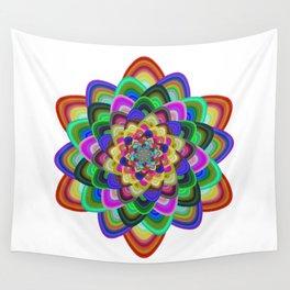 Hexagonal flower Wall Tapestry