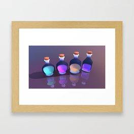 Potion Bottles Framed Art Print
