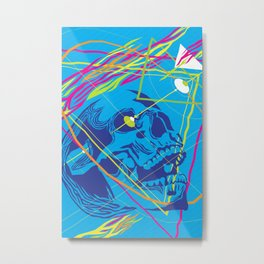 Graphic Still Life with Skull 02 Metal Print