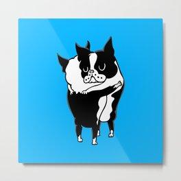 Boston Terrier Hugs Metal Print