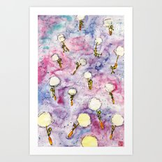 Dandelion, where you want to go? Art Print