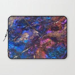 Blue Rainbow Oil Slick Crystals Laptop Sleeve