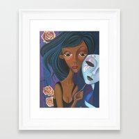 charmaine Framed Art Prints featuring Unmasked by Charmaine D'Silva