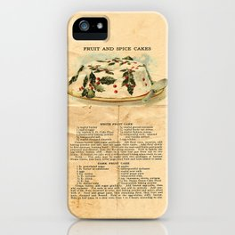 Fruit Cakes - Vintage iPhone Case