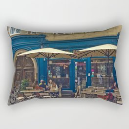 Sunday morning at the Cafe in Strasbourg Rectangular Pillow