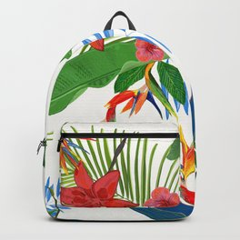 Tropical Leaves Pomegranate Backpack