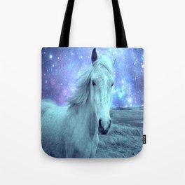 Celestial Dreams Horse Periwinkle Lavender Aqua Tote Bag