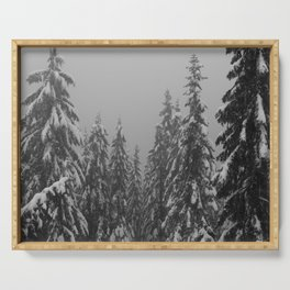 Snow Trees Serving Tray