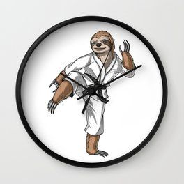 Sloth Karate Fighter Wall Clock