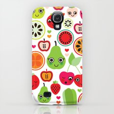Colorful fruit cartoon characters illustration pattern Slim Case Galaxy S4
