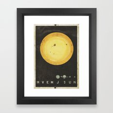 Planetary Arrangement Framed Art Print