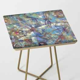 Dragonflies in blue Side Table