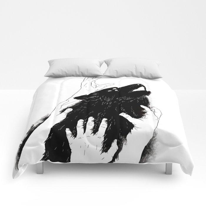 Wolves of Paris Comforters