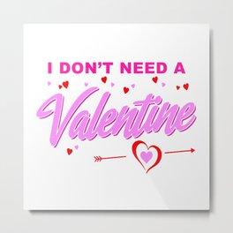 anti valentine Metal Print