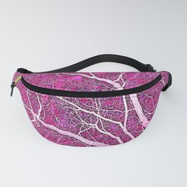 Interconnected Paths (hot magenta-pink) Fanny Pack