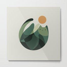 Cat Landscape 121 Metal Print