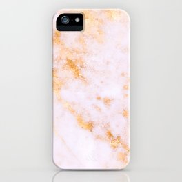 Gold Marble - Shimmery Glittery Pink Gold Marble Metallic iPhone Case