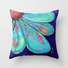 Blossom Blues Throw Pillow