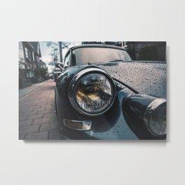 Close Up Of Car Headlight Metal Print