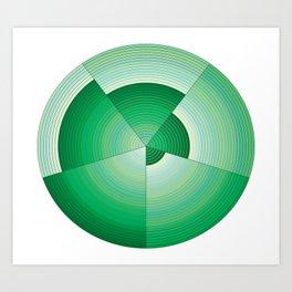 36 Green tones Art Print