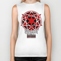sith Biker Tanks featuring Sithknot (People=Sith) by Ant Atomic