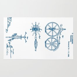 Bicycle Velocipede 1866 Patent Rug