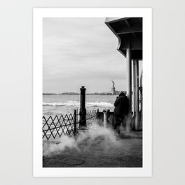 Liberty from the back of The Boat Art Print