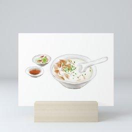 Watercolor Illustration of Chinese Cuisine - Sichuan Jianyang Mutton Soup   四川简阳羊汤 Mini Art Print