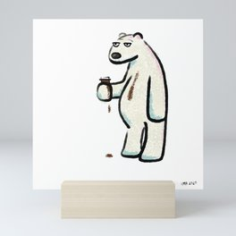 Coffee Polar Bear Mini Art Print