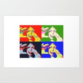 Clowning X 4 Art Print